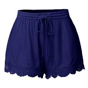 ITISME Jeans Femme Troué Taille Haute Denim Shorts Ete Pantalons de Plage