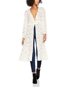 New Look Hayley Floral Lace-up, Cape Femme, Blanc (White Pattern 19), 44