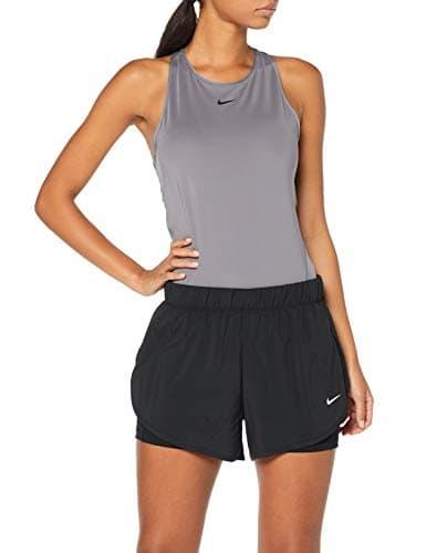 Nike W NK FLX 2in1 Short Woven Femme, Noir Black/White 010, FR : M (Taille Fabricant : M)