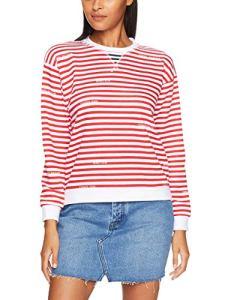 Tommy Hilfiger WW0WW23863 Kellie C-NK Sweat-Shirt Femme White Red S
