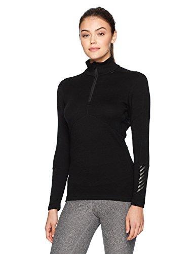 Helly Hansen LIFA Merino 1/2 Zip Maillot de Corps Femme, Noir, FR (Taille Fabricant : XS)