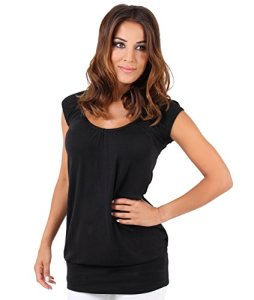 KRISP Top Long Uni (7604-BLK-14), Noir (7604), 42