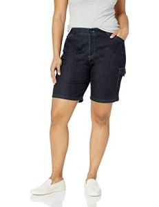 LEE Women's Plus Size Flex-to-go Relaxed Fit Cargo Bermuda Short