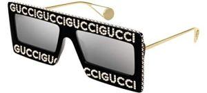Lunettes de Soleil Gucci GG0431S Black/Silver Femme