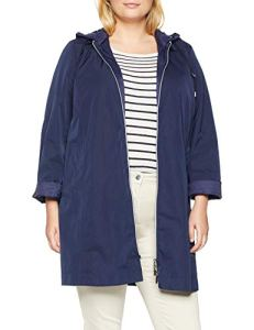Persona by Marina Rinaldi Tango Manteau imperméable, Bleu (Blueberry 058), 48 (Taille Fabricant: 23) Femme