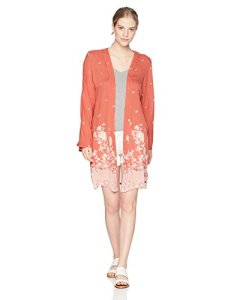 Roxy Junior's Long Holidays Kimono Top, Tandoori Spice NUSA DUA Border, XS/S
