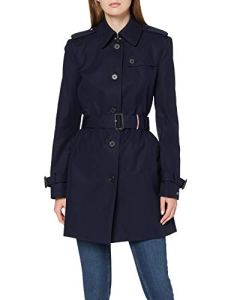 Tommy Hilfiger Heritage Single Breasted Trench Manteau, Bleu (Midnight 403), XX-Large Femme