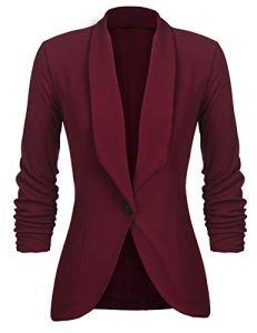 UNibelle Femme Veste De Tailleur Courte Casual Slim Blazer Blouson Costume d'affaires