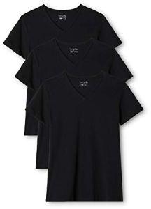 Berydale T-shirt pour femmes à encolure en V, lot de 3, différrentes couleurs, Noir, 2XL