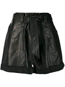 Inconnu IRO 19WWP30DAFYBLA01 Short en Cuir pour Femme – Noir – 36