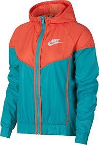 Nike NSW WR Veste Femme, Cabana/Turf Orange/White, FR : M (Taille Fabricant : M)