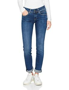 Pepe Jeans – New Brooke – Jeans – Femme – Bleu (Dark Used Denim Cn6) – Taille: W32/L32