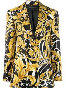 Versace Femme A83183a230808a7900 Or Soie Blazer