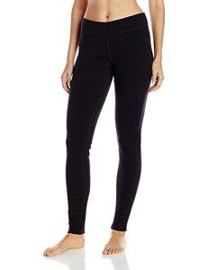 WoolX Legging Thermique–Lourd, Ultra Douce pour Femme Laine de mérinos Base Layer, Femme, New Black