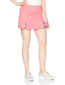 Bolle Women's Verona Pleated Athletic Skirt with Attached Shorts, Verona Hibiscus, Large