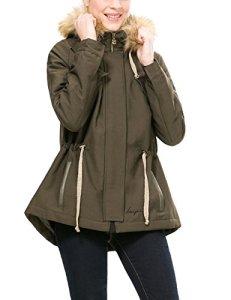 Desigual Abrig_Black 4 Manteau, Vert (Caqui 4002), (Taille Fabricant: 42) Femme