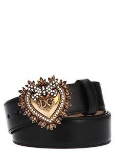Dolce E Gabbana Femme Be1315ak86180999 Noir Cuir Ceinture