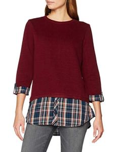 Esprit 108ee1j004 Sweat-Shirt, Rouge (Bordeaux Red 600), Medium Femme
