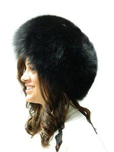 FursNewYork Black Fox Bubble Beret M