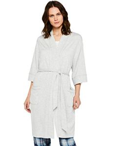 Iris & Lilly Cosy Terry Towel Peignoir, Gris Heather Grey), Medium