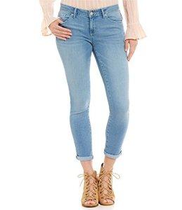 Jessica Simpson pour Femme roulé Crop Skinny Jean – Bleu – 8/29