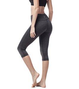 LAPASA Legging avec Poches Capri/Pantacourt de Sport Femme Coupe Genoux Amincissant – Yoga Fitness Jogging Gym L02 (38/M, 14. Gris foncé chiné*)