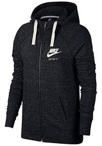 Nike Sportswear Gym Vintage Hoodie FZ Sweat à Capuche Femme, Noir (Black/Sail 010), FR : S (Taille Fabricant : S)