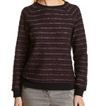 Cecil 300444 Sweat-Shirt, Rouge (Cranberry Red 31088), X-Large Femme