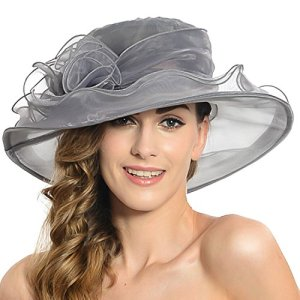 Femmes Organza Derby Du Kentucky Fascinator Lady Cocktail Tea Party Église De Mariage De Mariée Fleur Chapeau