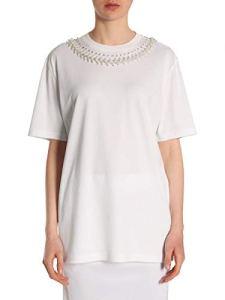 Givenchy Femme Bw700d3z0g100 Blanc Coton T-Shirt