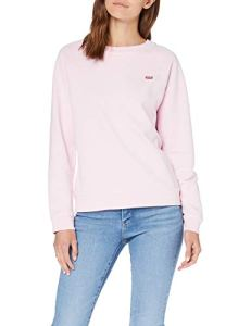Levi's Relaxed Graphic Crew Sweat-Shirt – Femme – Rose (Batwing Chest Hit Pink Lady 0034) – Medium