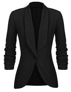 UNibelle Dames Femmes Casual Mode Blazer À Manches 3/4 Cardigan Costume Veste Manteau De Bureau De Travail