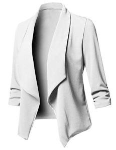 Uranus Femme Blazer Slim Fit Irrégulier Veste de Tailleur Chic Cintrée Casual Manteau Grande Taille