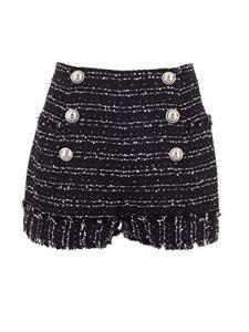 Balmain SF05020C1900PA Luxury Fashion Short pour Femme Noir Automne Hiver 19 – Noir – 38