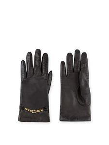 Gants en cuir AG035 8 A001 Black