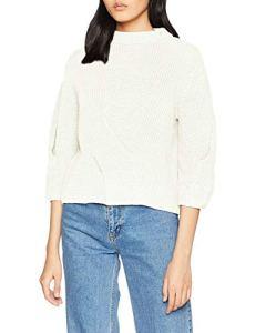 Gestuz Ice Pullover Sweat-Shirt, Ecru (Vaporous Gray 90521), Medium Femme