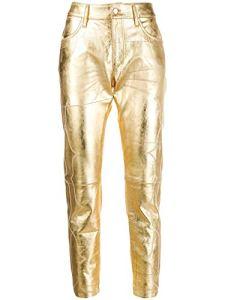 Golden Goose Luxury Fashion Femme G35WP008P3 Or Pantalon | Automne_Hiver