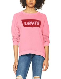 Levi's Relaxed Graphic Crew Sweat-Shirt – Femme – Rose (Hsmk Crew Sachet Pink 0026) – Medium