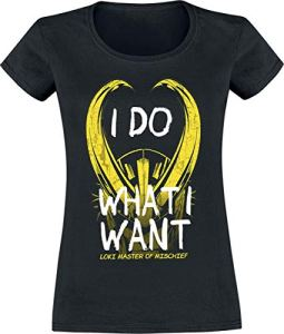 Loki I Do What I Want T-Shirt Manches Courtes Noir L