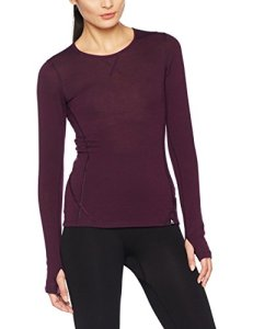 Odlo Natural Warm T-Shirt Manches Longues Femme, Pickled Beet Melange, FR : S (Taille Fabricant : S)