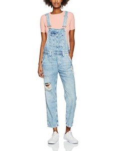 Pepe Jeans Jodie, Salopette Femme, Bleu (Denim), FR: 38 (Taille Fabricant: S)