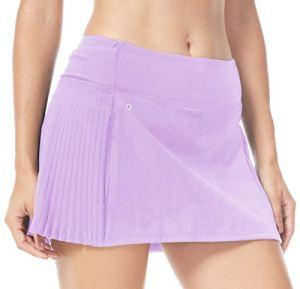 QUEENIEKE Ultra Jupe avec Shorts de Sport Jupe de Gym Sport Tennis pour Femmes Couleur Lavande Violet Taille XXL