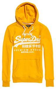 Superdry Premium Goods Gloss Entry Hood Sweat-Shirt À Capuche Sport, Beige (Desert Ochre E2a), Medium (Taille Fabricant: 12) Femme