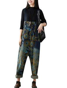 Youlee Femmes Été Pantalon Large Denim Salopette Pantalon de Jumpsuit Style 23