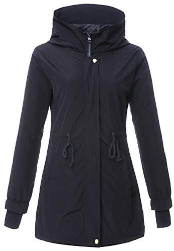 4How Jacket Casual Femme Escalade Excursion Pêche Bleu Marine 42