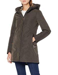 Camel Active Womenswear 2+30 Manteau Imperméable, Marron (Beluga 35), 36 (Taille Fabricant: 34) Femme