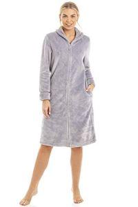 Camille Aux Femmes Ex Marks & Spencers Gris Toison Courte Longueur Robe de Chambre 52/54
