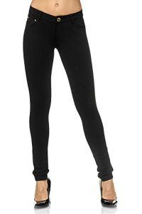Elara Pantalon Stretch Femme | Coupe Skinny | Jeggings | Chunkyrayan A2488 Black-40