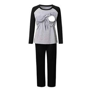 Holywin Pyjama de maternité pour hôpital Pyjama d'allaitement pour Femmes Enceintes et allaitantes