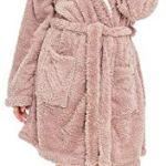 Slumber Hut® Dames Chien Carlin Robe de Chambre Polaire Femmes Un Peignoir Animal Pug Dog Vêtement de Nuit – Taille EUR 40-42